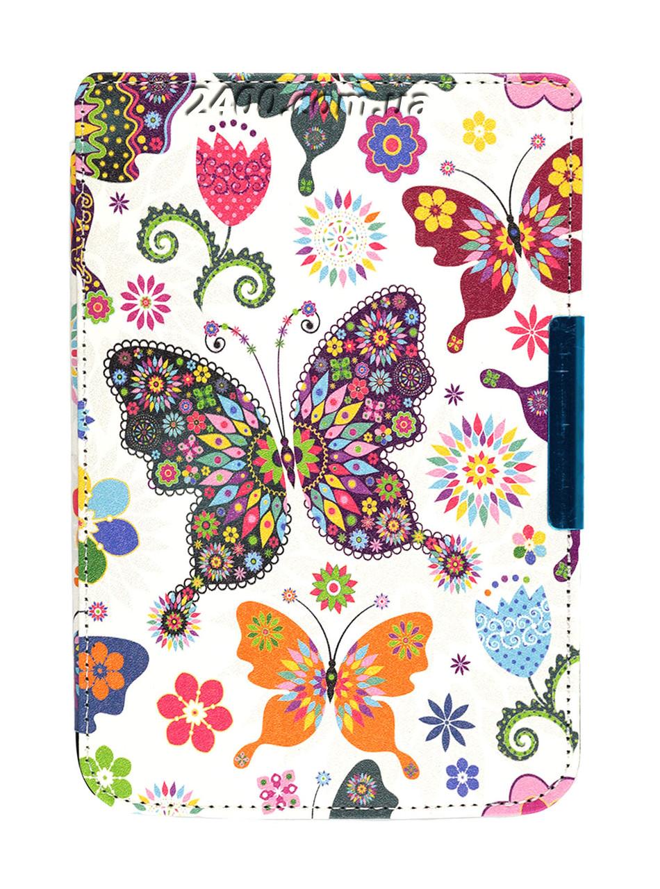Чехол PocketBook 614 Basic 2/3 (Plus) - рисунок Бабочки – обложка на электронную книгу Покетбук