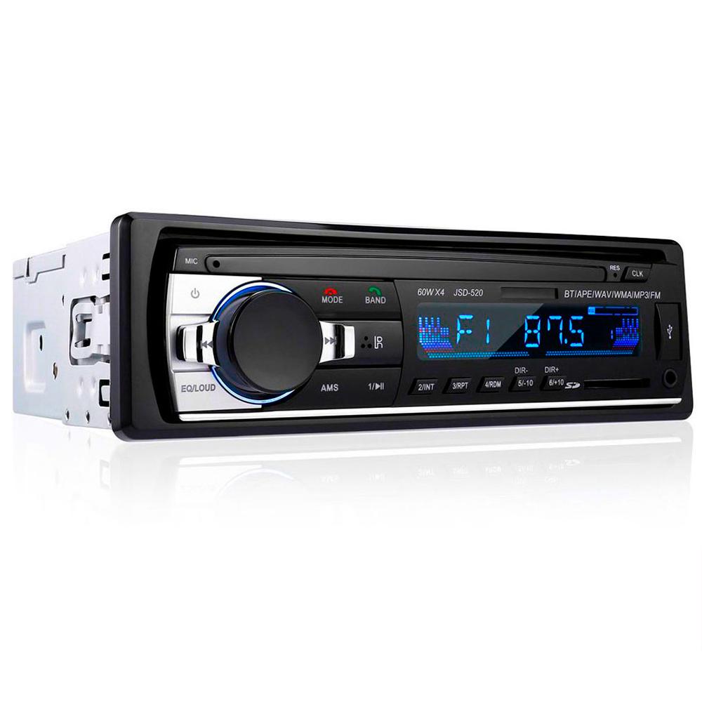 Автомагнитола Bluetooth 1 din Pioneer JSD-520, USB, AUX, пульт