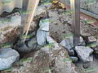 Металлический каркас для забора: х-кронштейн, столбики. Комплектующие для забора., фото 6