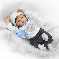 Силиконовая Коллекционная Кукла Реборн Alysi Мальчик 57 см. (HJKL)