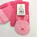 Подвійні зимові дитячі рукавиці ангора для дівчаток, фото 2