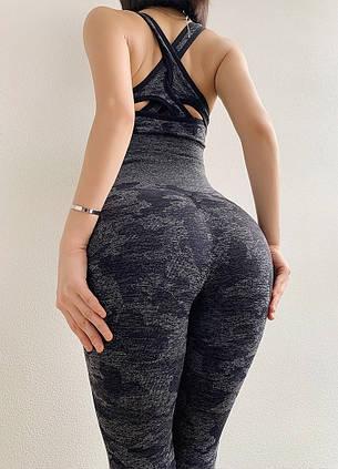 """Женский спортивный костюм для фитнеса лосины + топ """"Серый"""", фото 2"""