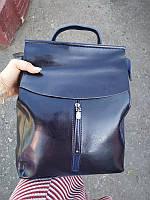 """Женский кожаный рюкзак, сумка для формата А4 """"Алиса Blue"""", фото 1"""