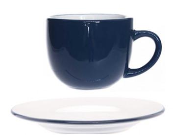 Чашка с блюдцем - 240 мл, Синяя (Cosy&Trendy) Vince Blauw