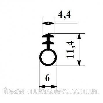 УД-501 Уплотнитель корич. ТРЕ (трубка) 6мм