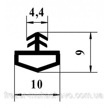 УД-522 Уплотнитель темн. корич. ТРЕ (домик)