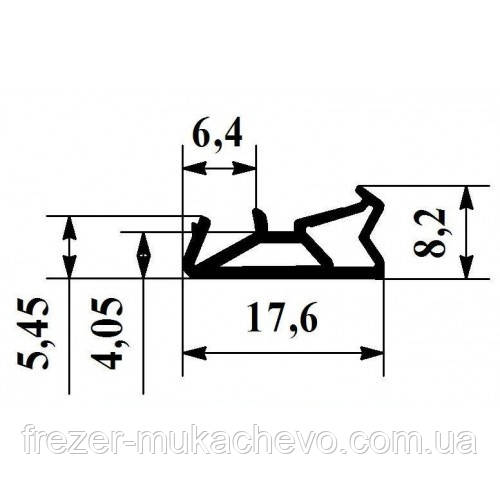 УД-554 Уплотнитель білий  (єврик)
