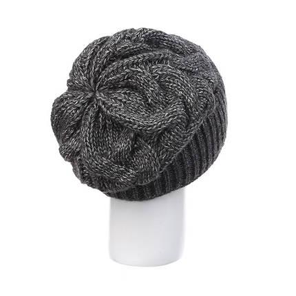 Шапка жіноча Caskona Monica 2 Dark Grey Melange темно сірий меланж ( CS 103060 ), фото 2