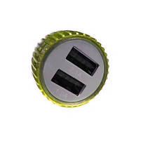 Зарядний пристрій 11583 автомобільне 2USB 2.1 A (Gold White) | Юсб автозарядка, фото 3