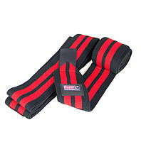 Коленные бинты Gorilla wear Knee Wraps 79 Inch (Black/Red)