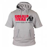 Толстовка с капюшоном Gorilla wear Boston Short Sleeve Hoodie (Grey)