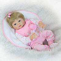 Силиконовая кукла реборн Alysi беловолосая Мариша 57см. (KIUH)