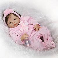 Силиконовая коллекционная кукла реборн Alysi 57см. (NHYF)