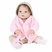 Эксклюзивная кукла реборн Alysi силиконовая девочка 57см. (NJKM)