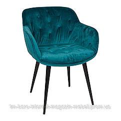 Кресло VIENA (60*63*77,5 cm текстиль) морская волна, Nicolas