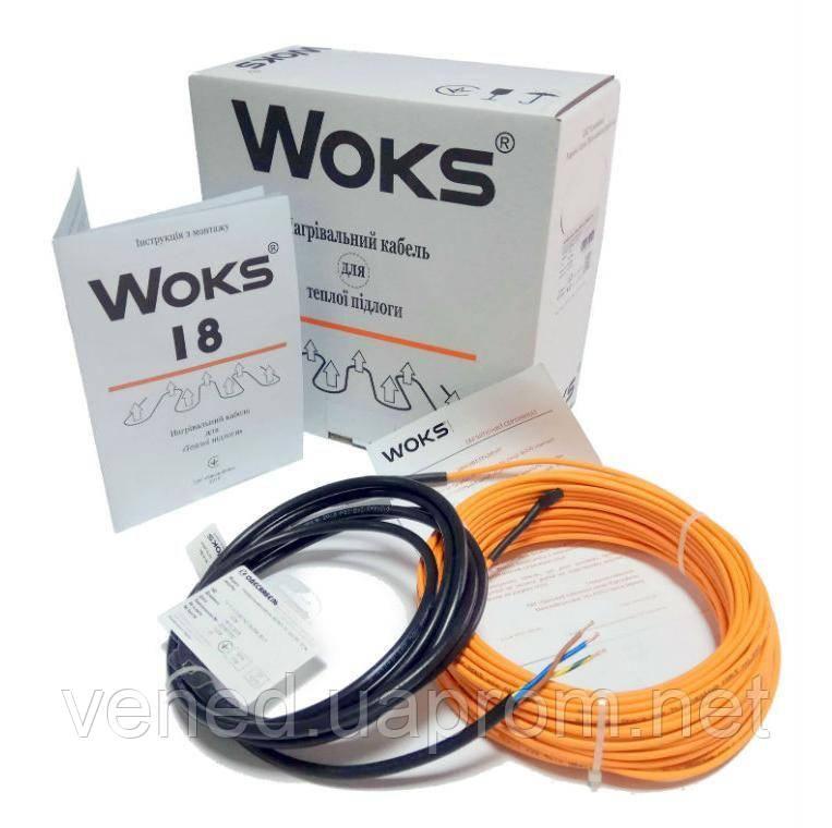 Нагревательный кабель WOKS-18 2430 Вт (136м)