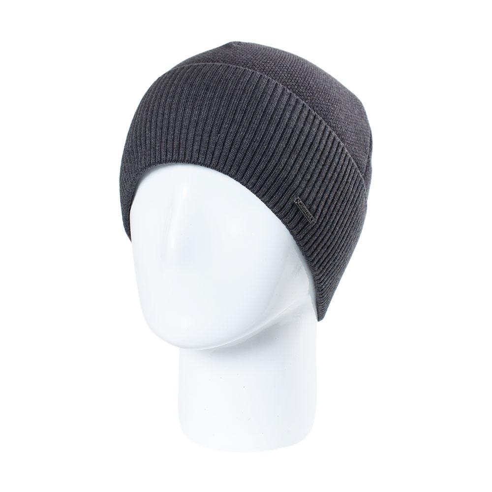 Шапка мужская Caskona Classik 3 Black Grey черная с серым    ( CS 13620 )