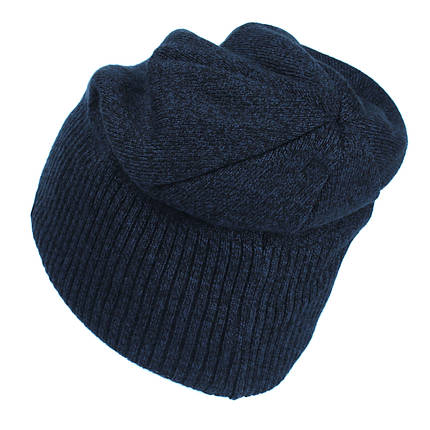 Шапка мужская Ozzi №82 черная с темным джинсом       ( 82/Z012 ), фото 2