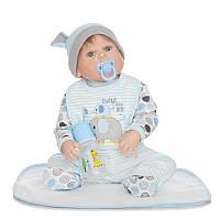 Силиконовая кукла реборн Alysi Алеша 57см. (DERF)