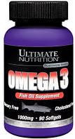 Комплекс незаменимых жирных кислот Ultimate Nutrition Omega 3 (90 капс)