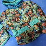 Пальто модное демисезонное для девочек с отстежной нижней частью. с сумочкой., фото 2