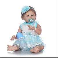 Силиконовая кукла реборн Alysi 45см. (WECF)