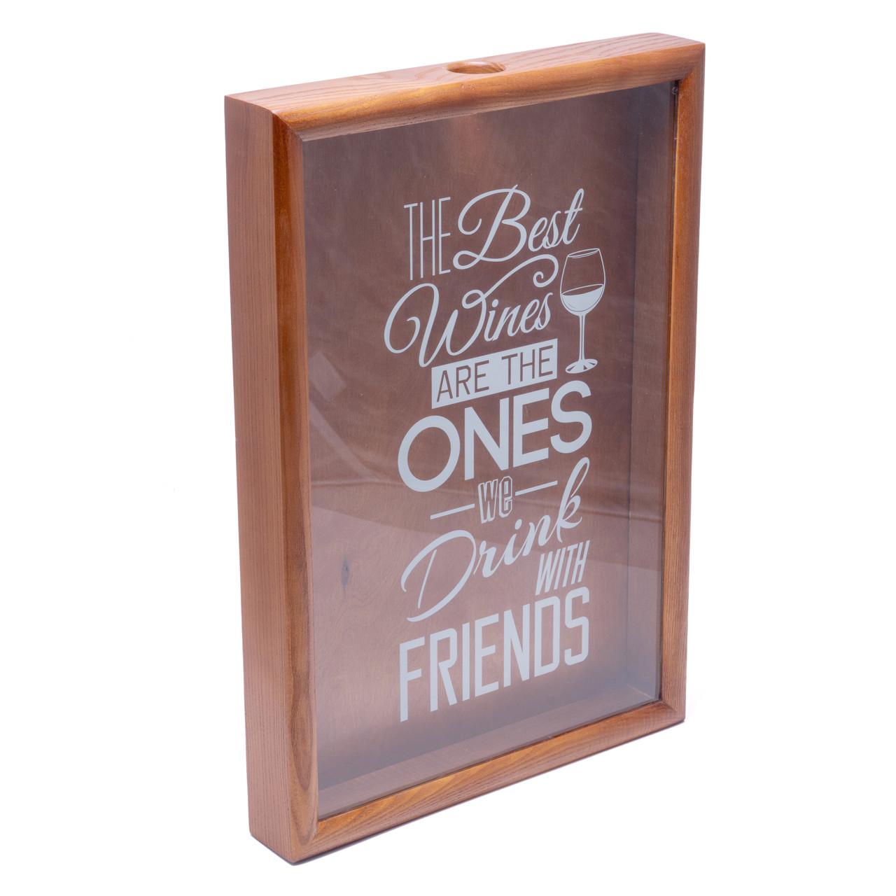Копилка для винных пробок 250013 48х33х5,5 см. орех Best wines