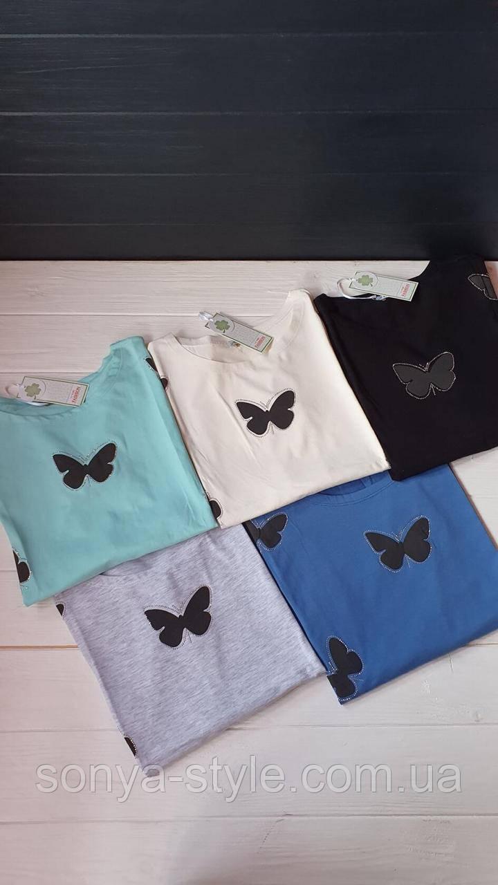 Кофточка с бабочками  больших размеров