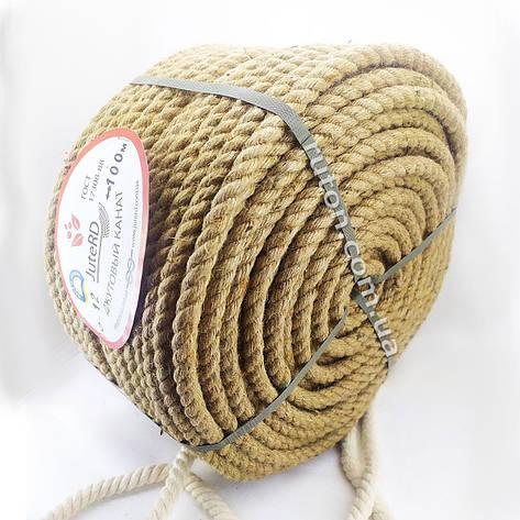 Веревка джутовая витая декоративная 12 мм 100 м, фото 2
