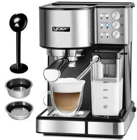 Автоматическая кофеварка высокого давления Yoer INOX PL 01513