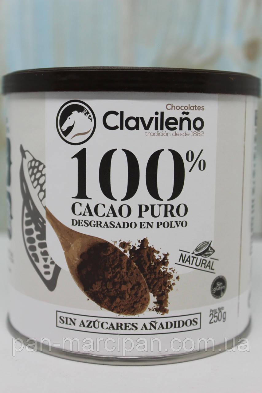 Какао без цукру 100% cacao puro Clavileno 250g