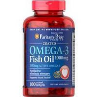 Комплекс незаменимых жирных кислот Puritan's Pride Omega 3 Fish Oil 1000 mg (100 капс)
