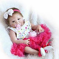 Кукла реборн девочка Alysi Reborn 57см. (QAXD)
