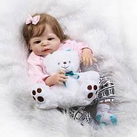 Силиконовая кукла реборн Alysi прекрасная девочка Маша 57 см. (TGXE)