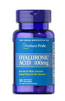 Препарат для восстановления суставов и связок Puritan's Pride Hyaluronic Acid 100 мг (30 капс)