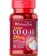 Антиоксидант для поддержки сердечно-сосудистой системы Puritan's Pride Q-SORB Co Q10 200 мг (30 кап)