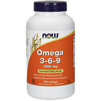 Комплекс незаменимых жирных кислот NOW Omega 3-6-9 (250 капс)