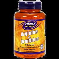 Аминокислоты NOW Arginine & Ornithine (100 капс)