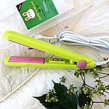 Мини утюжок для волос, выпрямитель для волос | Для выпрямления волос | Дорожный утюжок | Плойка | Gold Vatican, фото 2