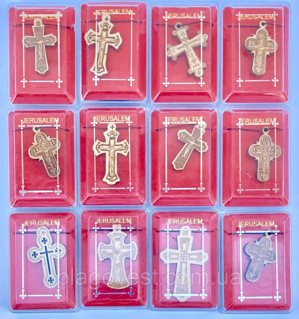 Хрест натільний дерево SV-10-2 (набір 12 шт)
