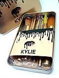 Набор кистей Kylie 12шт для макияжа Кайли кисточки в контейнере, фото 5