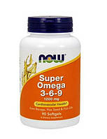 Комплекс незаменимых жирных кислот Now Super Omega 3-6-9 1200 mg (90 капс)