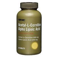 Жиросжигатель GNC Acetyl-L-Carnitine Alpha-Lipoic Acid (60 капс)