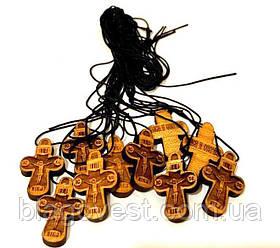 """Хрест натільний середній """"кипарис"""" (10шт/уп) М"""