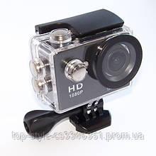Экшн камера A7 FullHD + аквабокс + Регистратор Полный компект+крепление шлем ЧЕРНАЯ, мини видеокамера