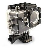 Екшн камера A7 FullHD + аквабокс + Реєстратор Повний компект+кріплення шолом ЧОРНА, міні відеокамера, фото 6