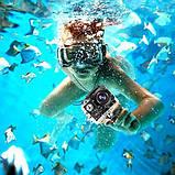 Екшн камера A7 FullHD + аквабокс + Реєстратор Повний компект+кріплення шолом ЧОРНА, міні відеокамера, фото 7