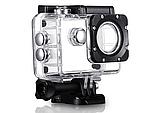 Екшн камера A7 FullHD + аквабокс + Реєстратор Повний компект+кріплення шолом ЧОРНА, міні відеокамера, фото 2