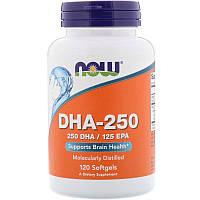 Рыбий жир NOW Foods DHA 250 мг (120 софтгель)