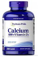 Витамины и минералы Puritan's Pride Calcium Carbonate 600 мг + Vitamine D (250 таб)